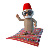 3d Moroccan on flying carpet royalty free illustration