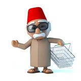 3d Moroccan goes shopping Stock Photo