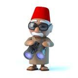 3d Moroccan has a pair of binoculars Stock Image