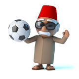3d Moroccan loves football Stock Photo