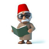 3d Moroccan reads a book Stock Image