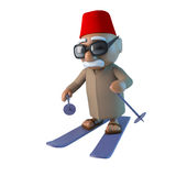 3d Moroccan is skiing Royalty Free Stock Images