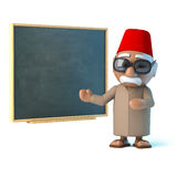 3d Moroccan teaches at the blackboard Stock Photography