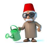 3d Moroccan with watering can Stock Photos