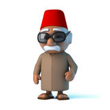 3d Moroccan wearing a fez. 3d render of a Moroccan man wearing a traditional fez Stock Photos