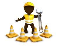 3D Morph cones do construtor do homem com cuidado Fotos de Stock