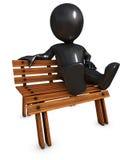 3D Morph Man on park bench Royalty Free Stock Photos