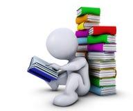 3D Morph Man reading book Stock Photos