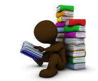 3D Morph Man reading book Stock Image