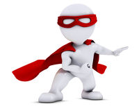 3D Morph Man super hero Royalty Free Stock Image