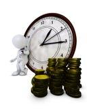 3D Morph o homem Tempo é dinheiro ilustração do vetor