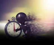 3D morphcijfer met snelheidseffect en chronometer Stock Foto's