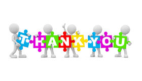 3D Morphs With Thank You Stock Images