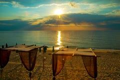 3d morze wschód słońca Obrazy Stock