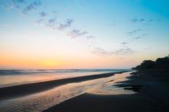 3d morze wschód słońca Zdjęcia Royalty Free
