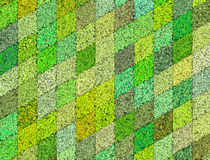 3d mosaic abstract green backdrop Royalty Free Stock Images