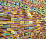 3d mosaic tile brick wall in rainbow stripe Stock Images