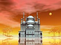 3D moskee - geef terug royalty-vrije illustratie