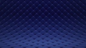 3D motion animation of blue quilted velvet surface with blue leather straps. Realistic animation of high quality. Looped. Video stock video