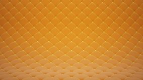 3D motion animation of orange quilted velvet surface with yellow leather straps. Realistic animation of high quality. Looped video stock video