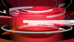 3D Motion Graphic Curves Abstract Animation stock video
