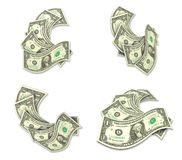 3D Motion icon of dollars. 3D Icon Design Series. Stock Images
