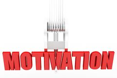 3d Motivation concept Stock Photography