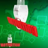 3d  motivation illustration Royalty Free Stock Photo