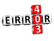3D mots croisé de l'erreur 403 Image stock