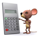 3d Mouse with calculator Royalty Free Stock Photos