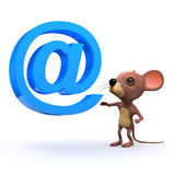 3d Mouse has an email address Royalty Free Stock Photography