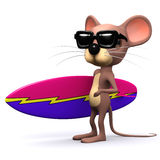 3d Mouse surfer Stock Images