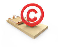 3d Mousetrap with copyright symbol Stock Photos