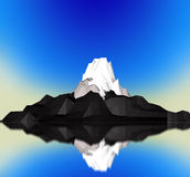 3d moutain Obrazy Royalty Free