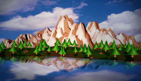 3d moutain royalty ilustracja
