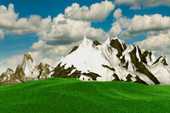 3d moutain Obraz Royalty Free