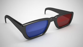 3d movie glasses. High quality render Royalty Free Stock Photo