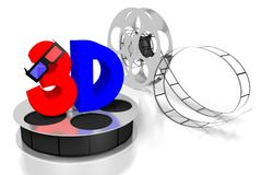 3D movies, cinema concept Royalty Free Stock Photography
