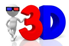 3D movies concept Royalty Free Stock Photo