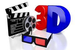3D movies concept Stock Image
