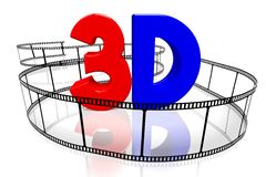 3D movies concept Stock Photos