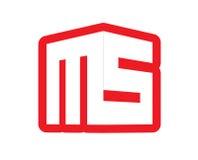 3D ms Logo Design Imagenes de archivo