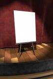 3d: Muestra en blanco en etapa Foto de archivo