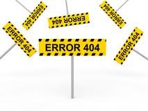 3d muestras del error 404 Fotos de archivo