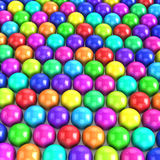 3d Multi colored balls Royalty Free Stock Images