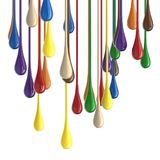 3D multicolor colorful glossy paint drop blobs Royalty Free Stock Photos