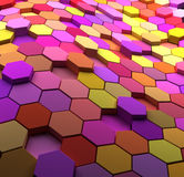 3D  multicolored abstract tiled background Royalty Free Stock Photos