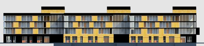 3D multy层房子模型 库存图片