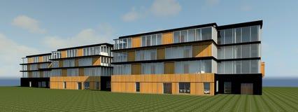 3D multy-story house MODEL. 3D model render of bulding Stock Images