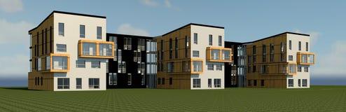 3D multy-story house MODEL. 3D model render of bulding Stock Image